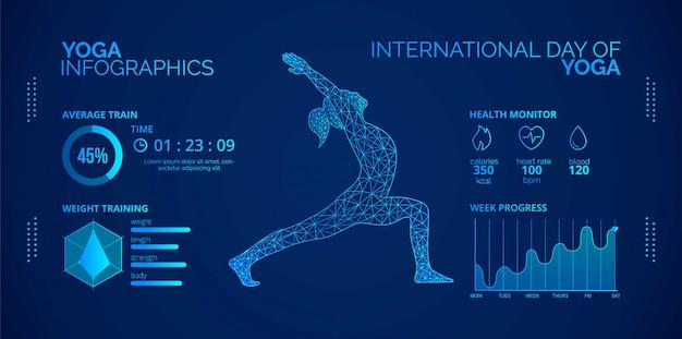 Infografiken über yoga.