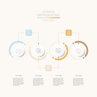 Infografiken vier element kreise für aktuelle business-konzept.