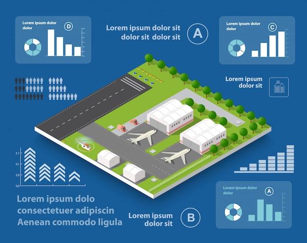 Infografiken von transportflügen