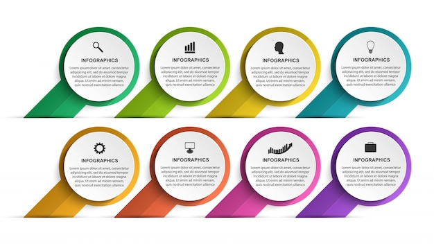 Infografiken-vorlage für abstrakte optionen.