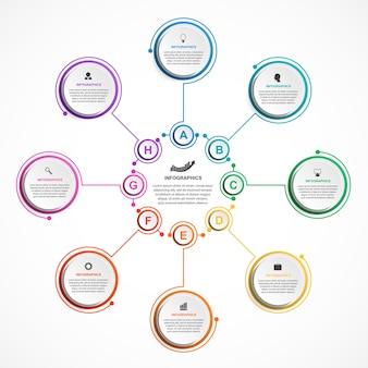 Infografiken-vorlage für abstrakte optionen