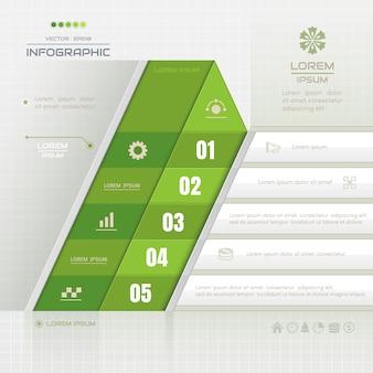 Infografiken vorlage mit geschäfts-ikonen