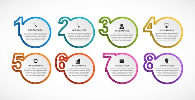 Infografiken vorlage mit optionen
