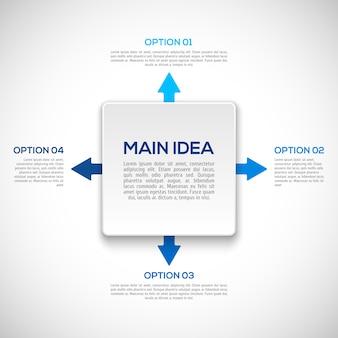 Infografiken vorlage mit pfeilen.