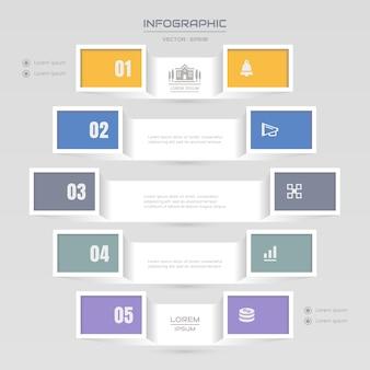 Infografiken vorlage mit symbolen