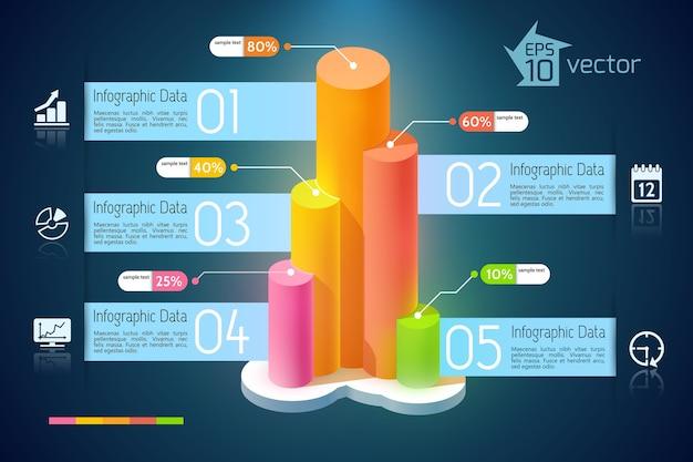 Infografiken zur geschäftsentwicklung