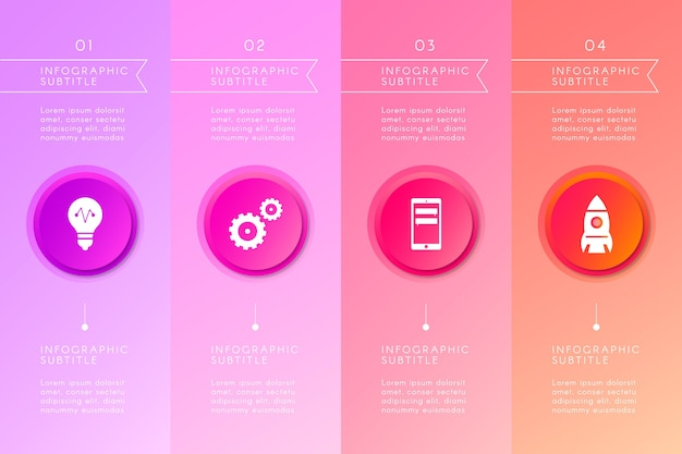 Infografikkonzept des abstrakten gradienten