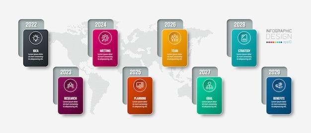 Infografikvorlage des geschäftskonzepts mit jährlicher option