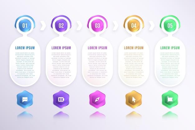 Infografikvorlage für realistische prozesse process