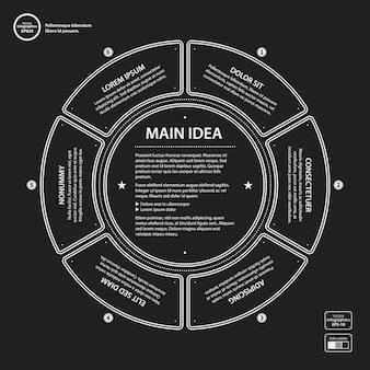 Infografisch mit abgerundeter form