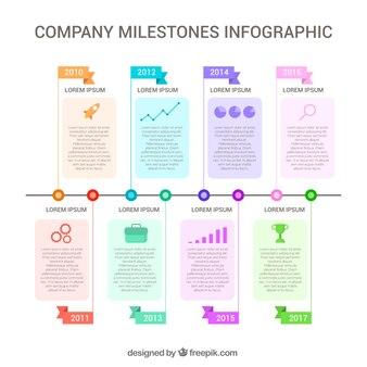 Infografisch mit stufen