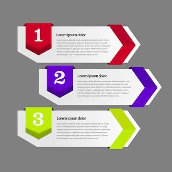 Infografische banner-vorlage