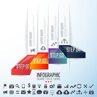 Infografische designvorlage