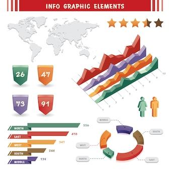 Infografische elemente und kommunikationskonzept