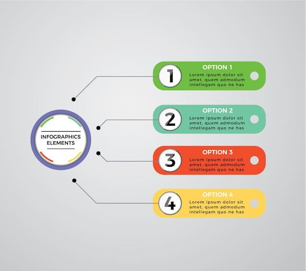 Infografische vorlage mit optionen