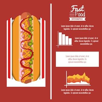 Infographic buntes design des schnellimbisses