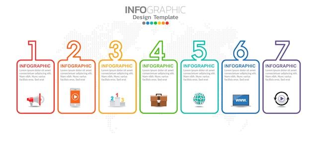 Infographic charakter des digitalen online-marketings für geschäftsinhalte.