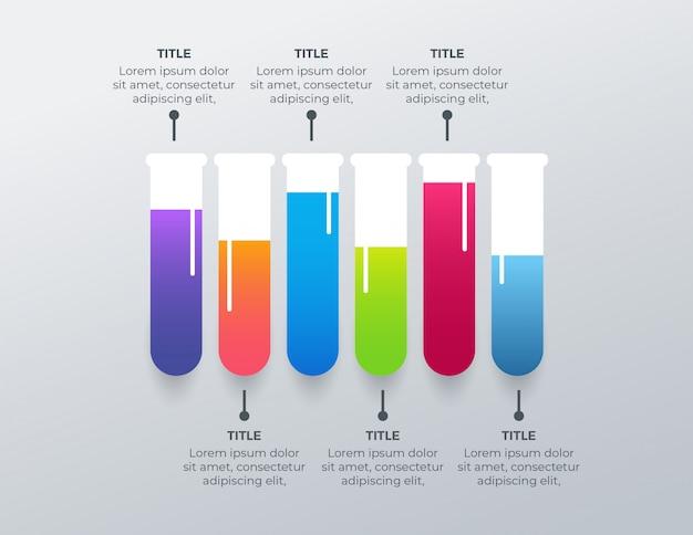Infographic design der medizinischen apotheke