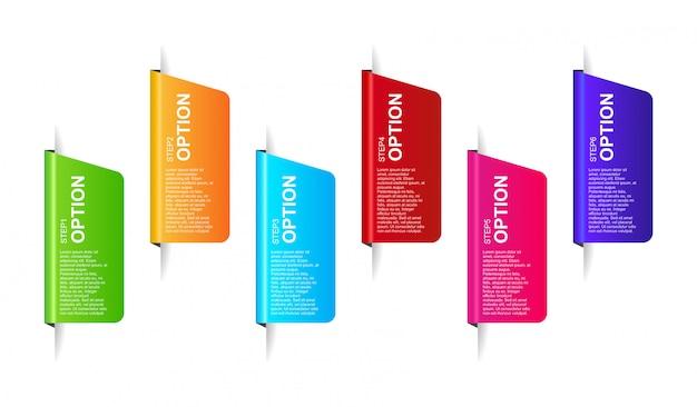 Infographic design-schablonenvektor der fahne 3d