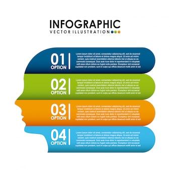 Infographic-design über weißer hintergrundvektorillustration