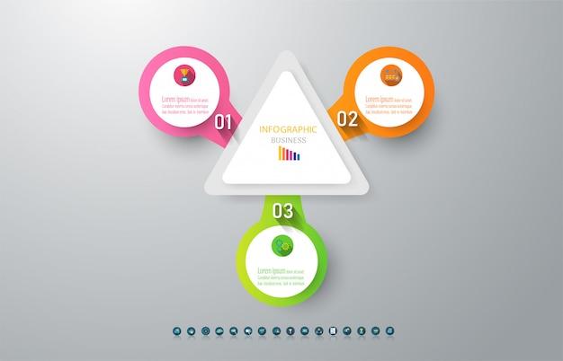 Infographic diagrammelement der design-geschäftsschablone.