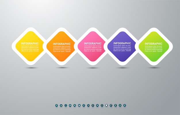 Infographic diagrammelement der wahlen der design-geschäftsschablone 5.