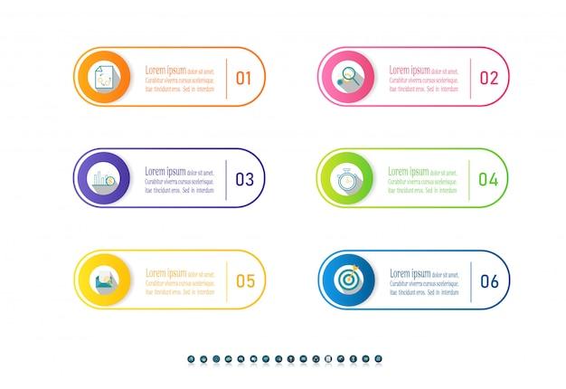 Infographic diagrammelement der wahlen der design-geschäftsschablone 6.