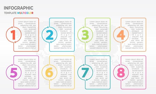 Infographic-dünne linie design-vorlage