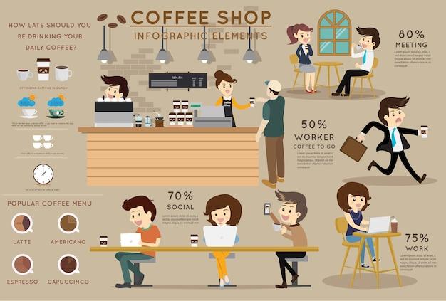 Infographic element des kaffeestubevektors