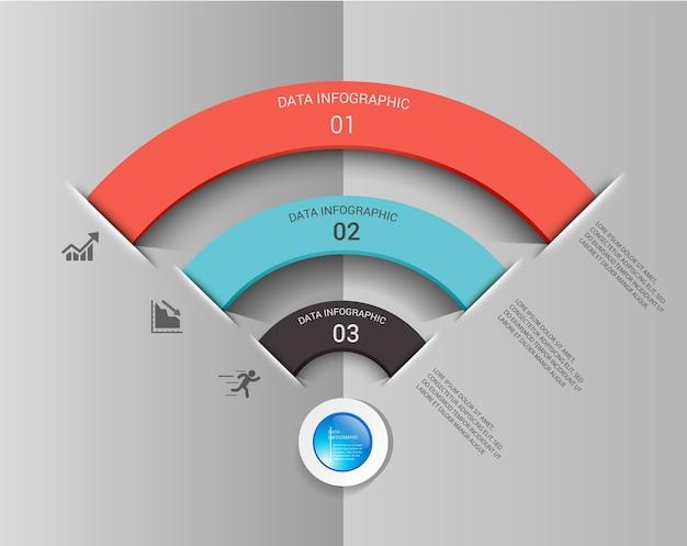 Infographic elementdesign der wifi-verbindung.