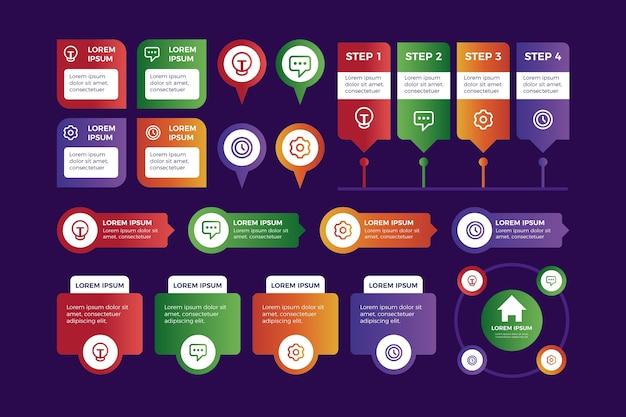 Infographic elemente der bunten steigung