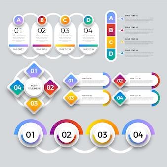 Infographic elemente der unbedeutenden bunten steigung