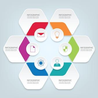 Infographic elemente des papiergeschäfts 3d