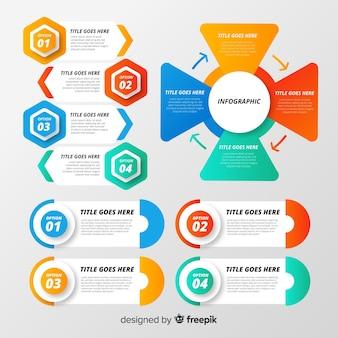 Infographic elementsammlung der steigung