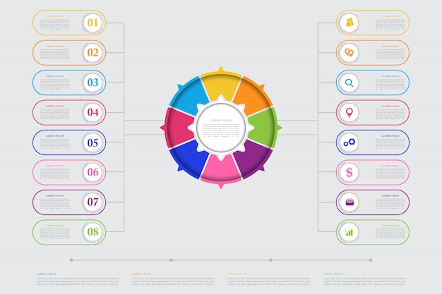 Infographic elementschablone des modernen geschäfts