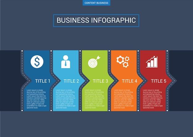Infographic geschäftsschablone mit pfeildiagramm