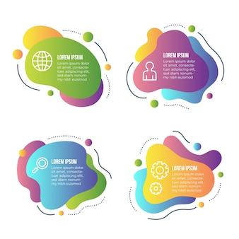 Infographic sammlung der abstrakten form der steigung