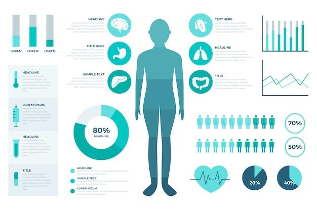 Infographic schablone der medizinischen gesundheit