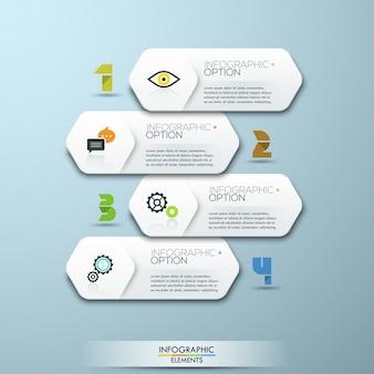 Infographic schablone der minimalen art des modernen designs