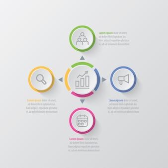 Infographic schablone des darstellungsgeschäfts