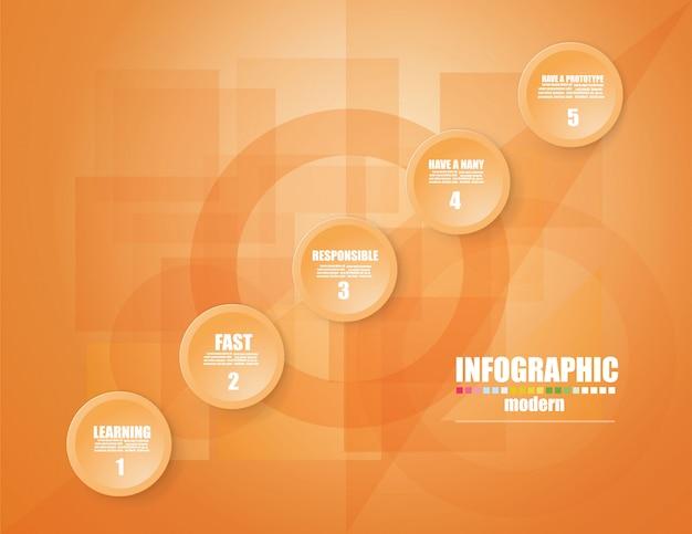 Infographic schablone des geschäfts das konzept die treppenschritte.