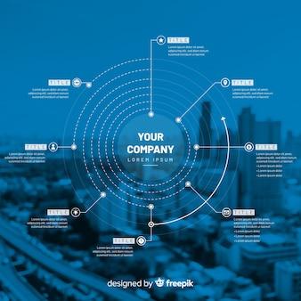 Infographic schablone des geschäfts mit foto