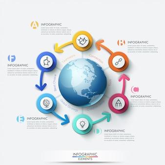 Infographic schablone des konjunkturzyklus