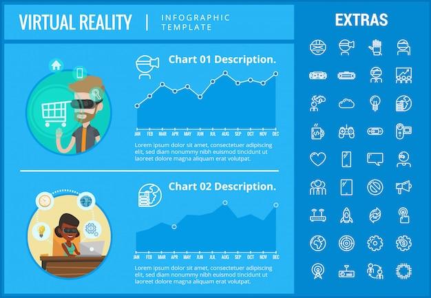 Infographic schablone und elemente der virtuellen realität