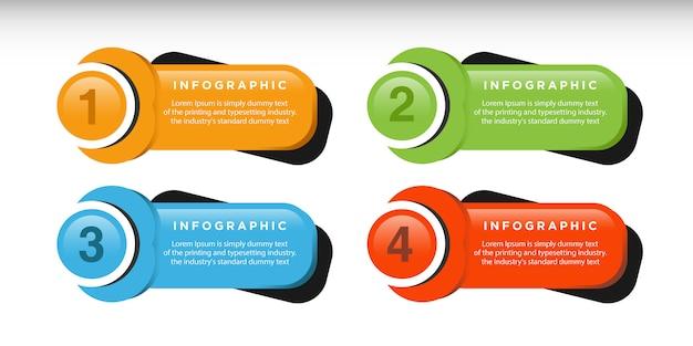 Infographic schablonendesign des geschäfts mit verbundenen kreiselementen