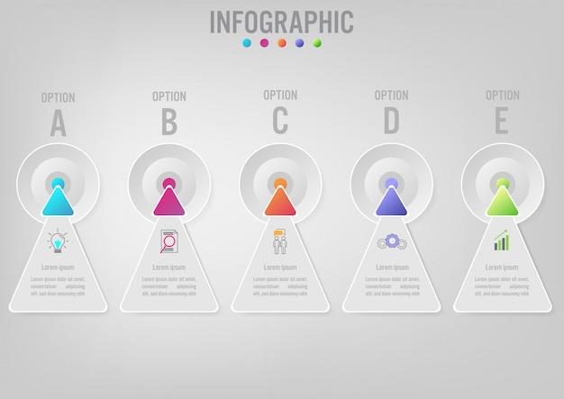 Infographic schablonenpfeilform des geschäfts