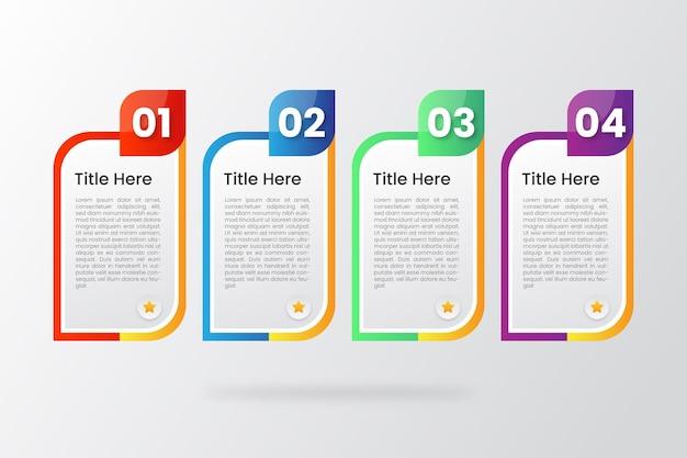 Infographic schablonenvektor des bunten minimalismus