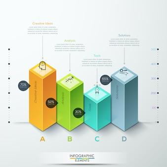 Infographic schablonenwahlen des abstrakten diagramms 3d