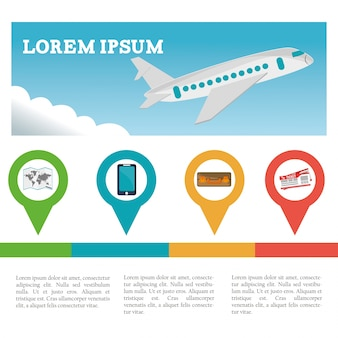 Infographic tourismus des reisefliegers