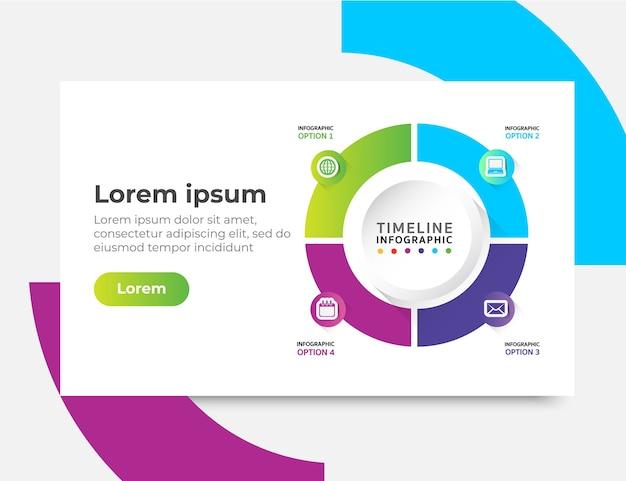 Infographic-websiteschablone entwirft konzepte, vektorillustration